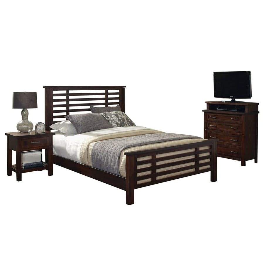 Home Styles Cabin Creek Chestnut King Bedroom Set