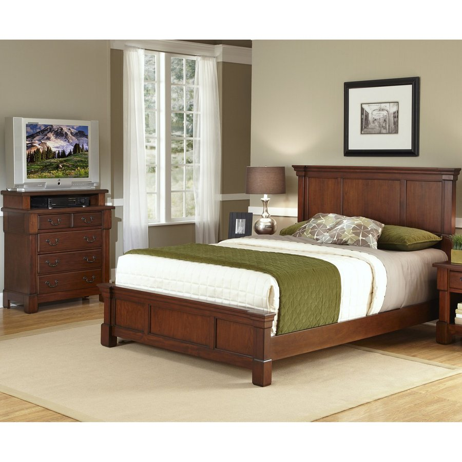 Home Styles Aspen Rustic Cherry Full/Queen Bedroom Set