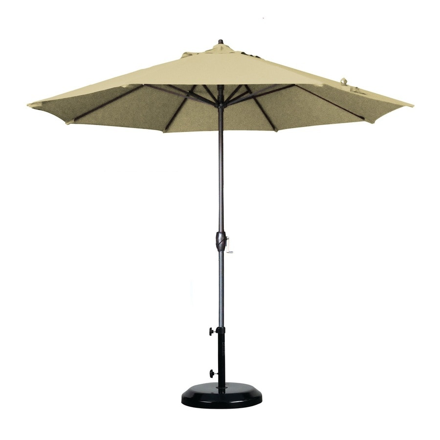 Shop california umbrella antique beige market patio for Balcony umbrella