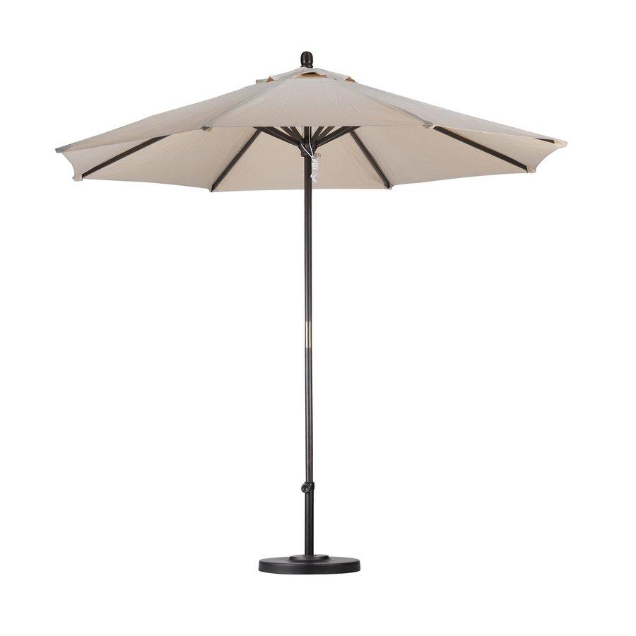 California Umbrella Antique Beige Market Patio Umbrella (Common: 9-ft W x 9-ft L; Actual: 9-ft W x 9-ft L)