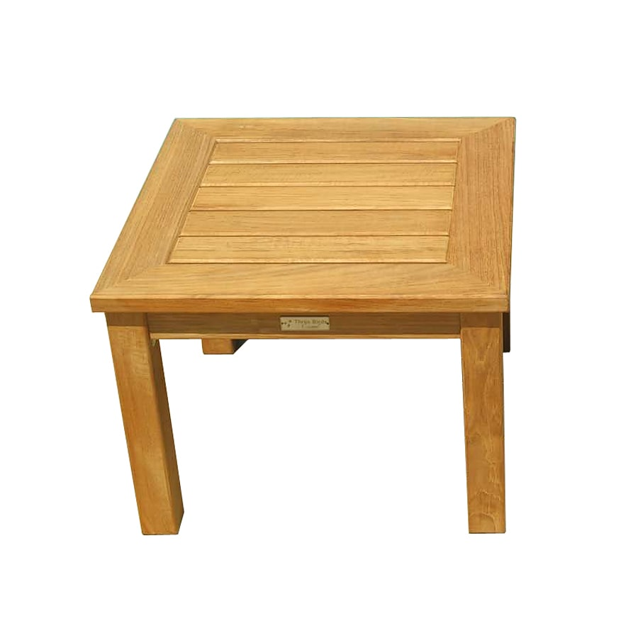 Three Birds Casual Newport 20-in W x 20-in L Square Teak End Table