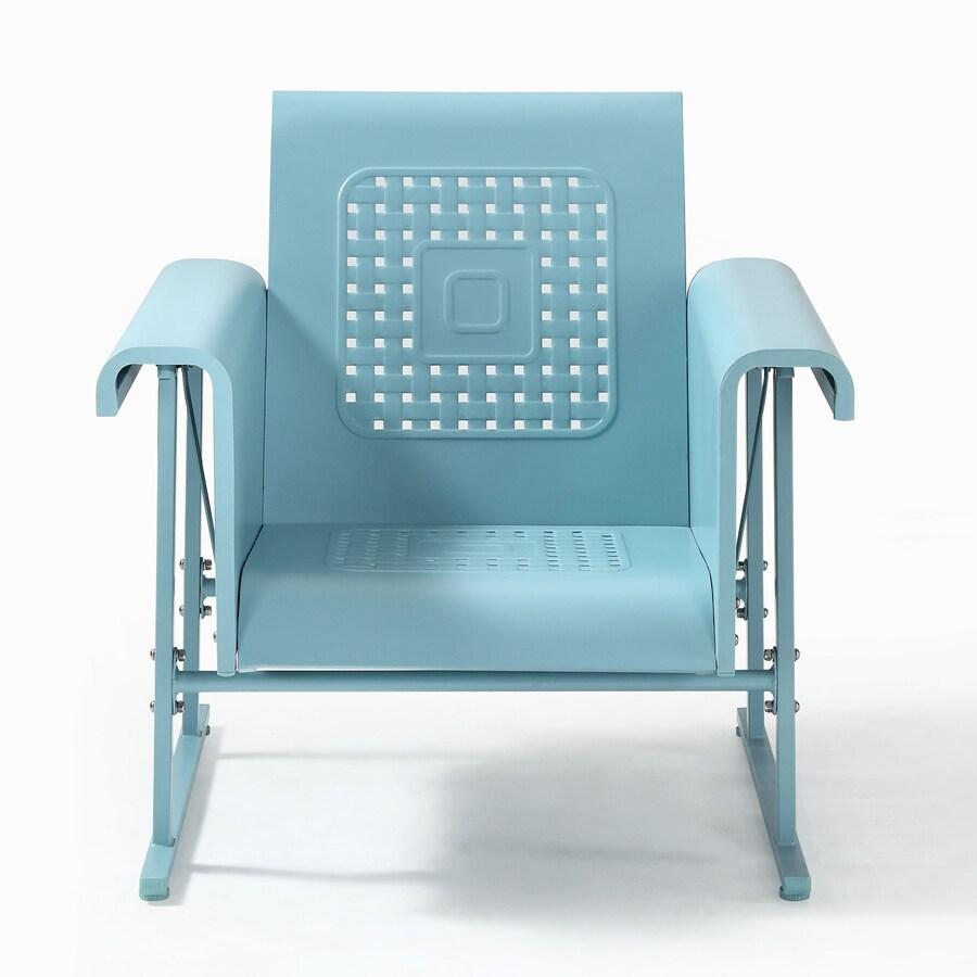 Crosley Furniture Veranda Light Blue Steel Patio Conversation Chair