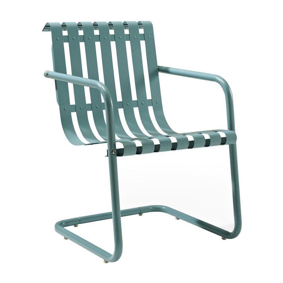 Crosley Furniture Gracie Caribbean Blue Steel Patio Conversation Chair