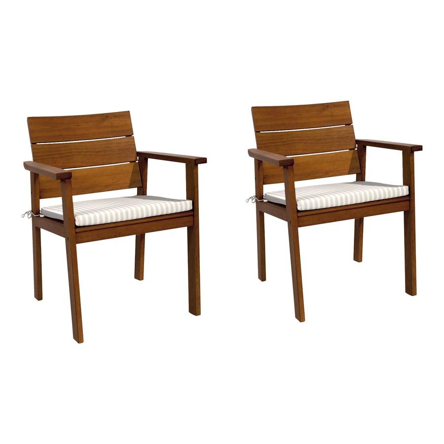International Home Amazonia 2-Count Eucalyptus Patio Dining Chairs