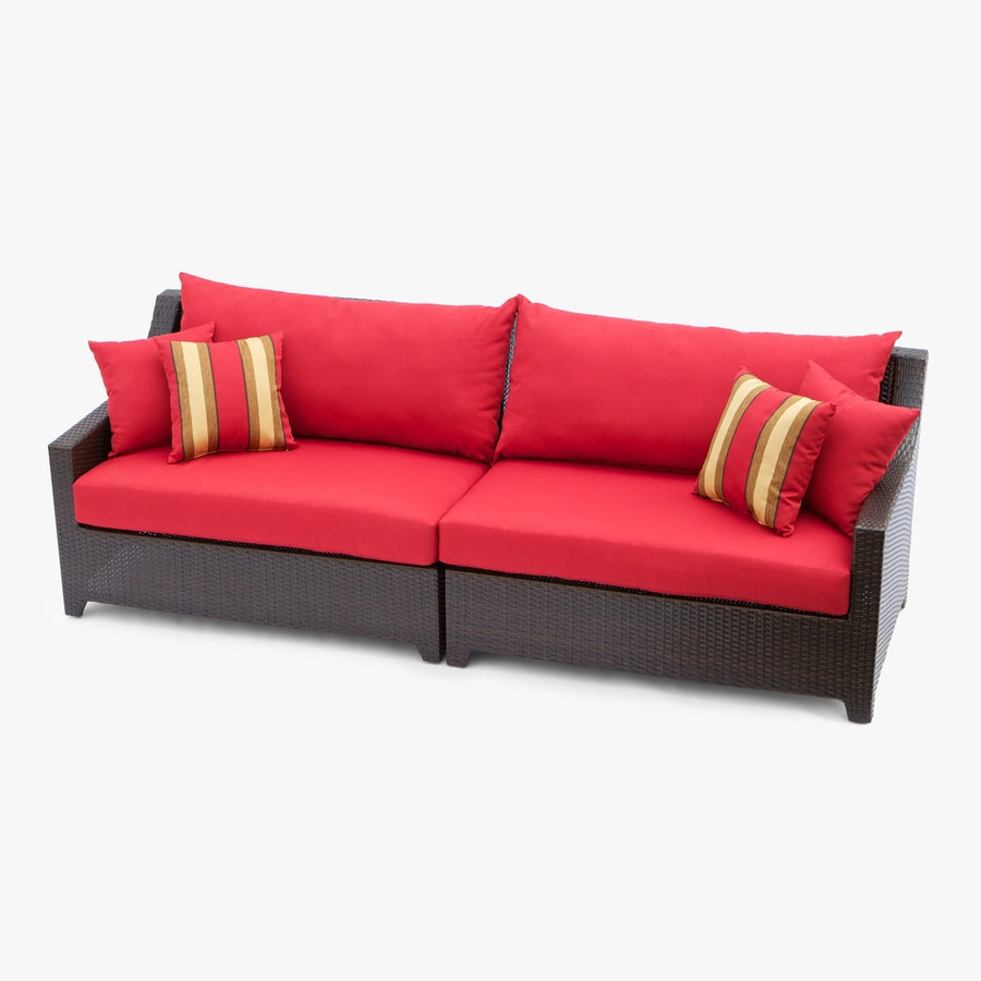 RST Brands Deco Solid Cushion Wicker Sofa