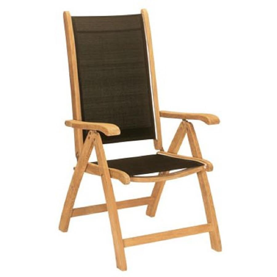 Shop hiteak furniture black pearl natural blond teak for Folding patio furniture