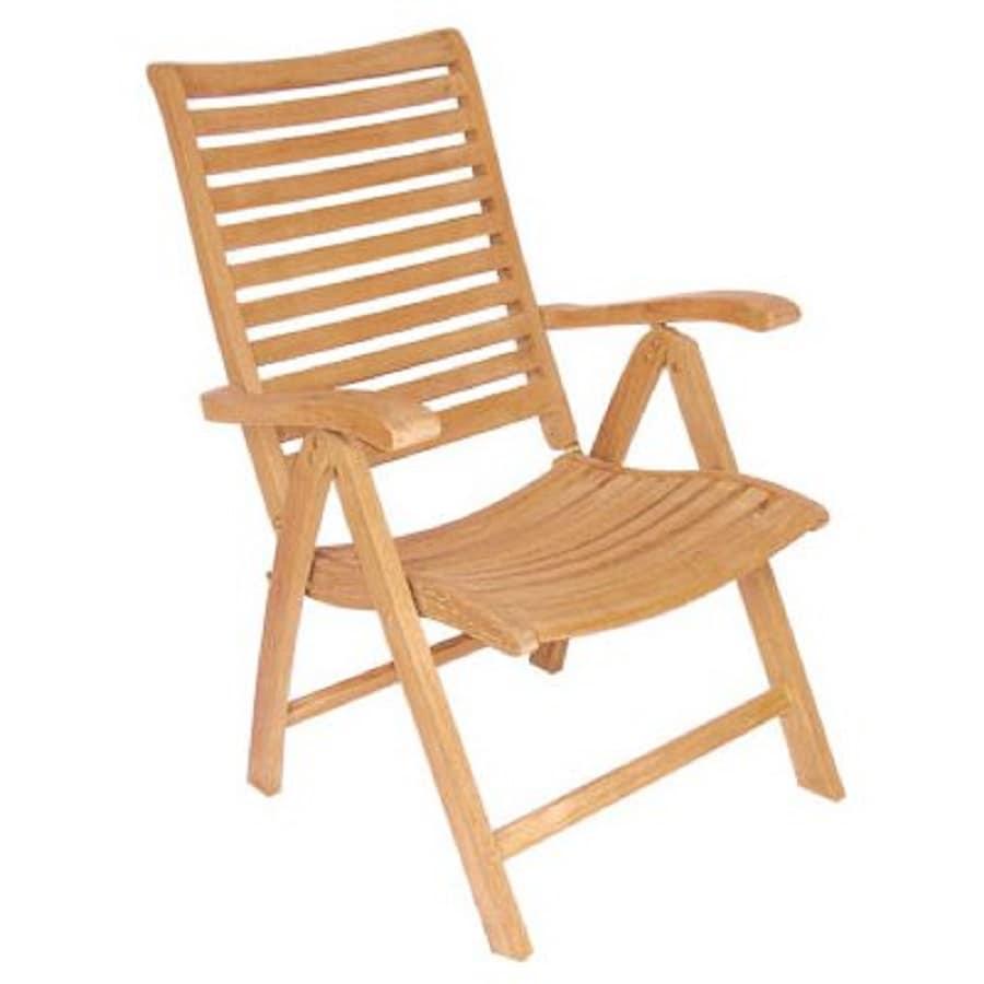 Shop HiTeak Furniture Natural Blond Teak Folding Patio Dining Chair At