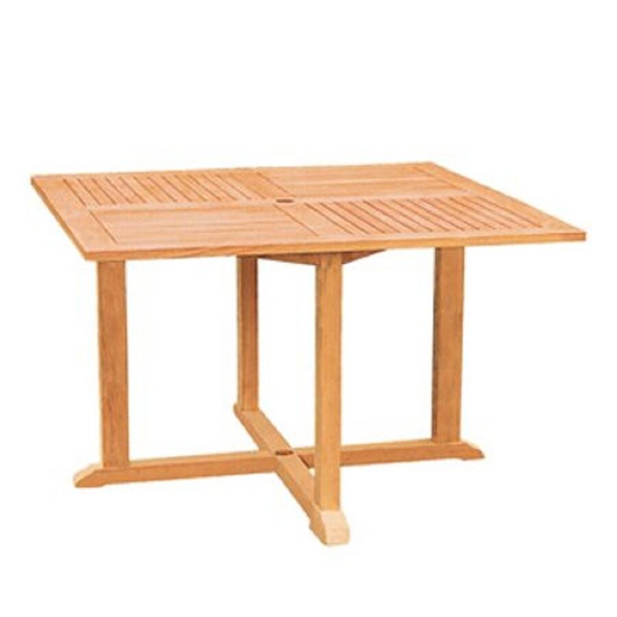 HiTeak Furniture 47.2-in W x 47.2-in L Square Teak Dining Table