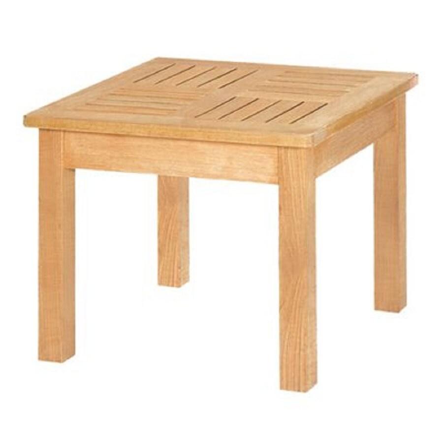 HiTeak Furniture 19.7-in W x 19.7-in L Square Teak End Table
