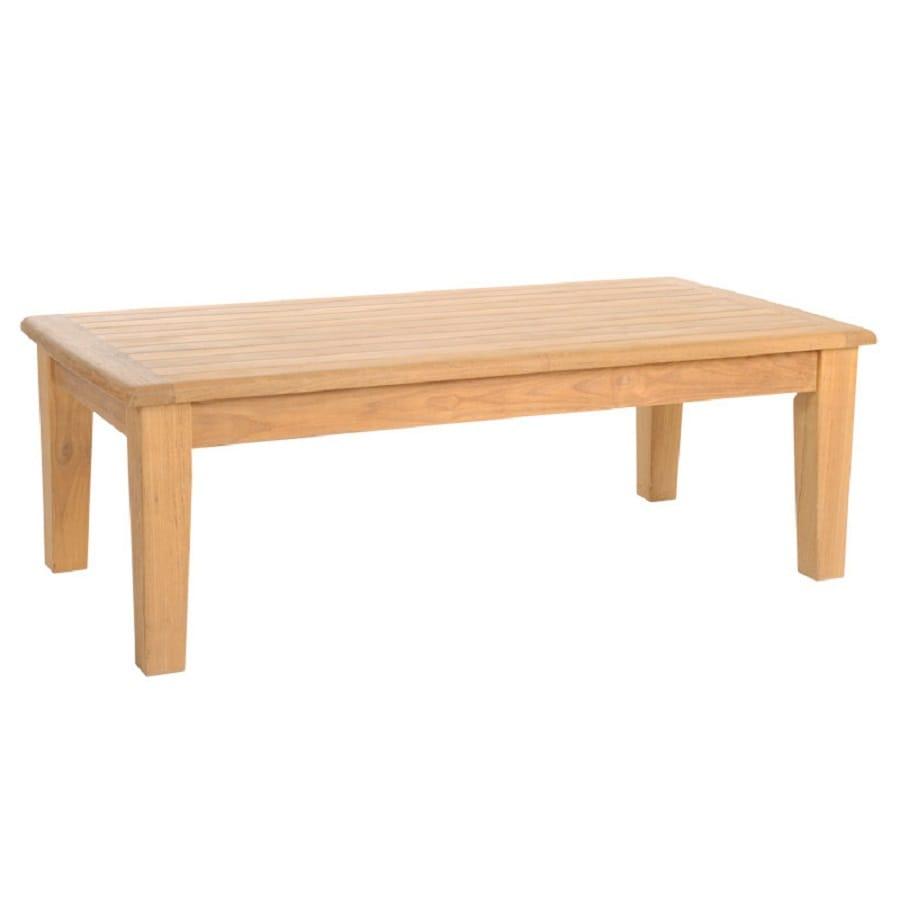 HiTeak Furniture Grande 23.6-in W x 47.2-in L Rectangle Teak Coffee Table