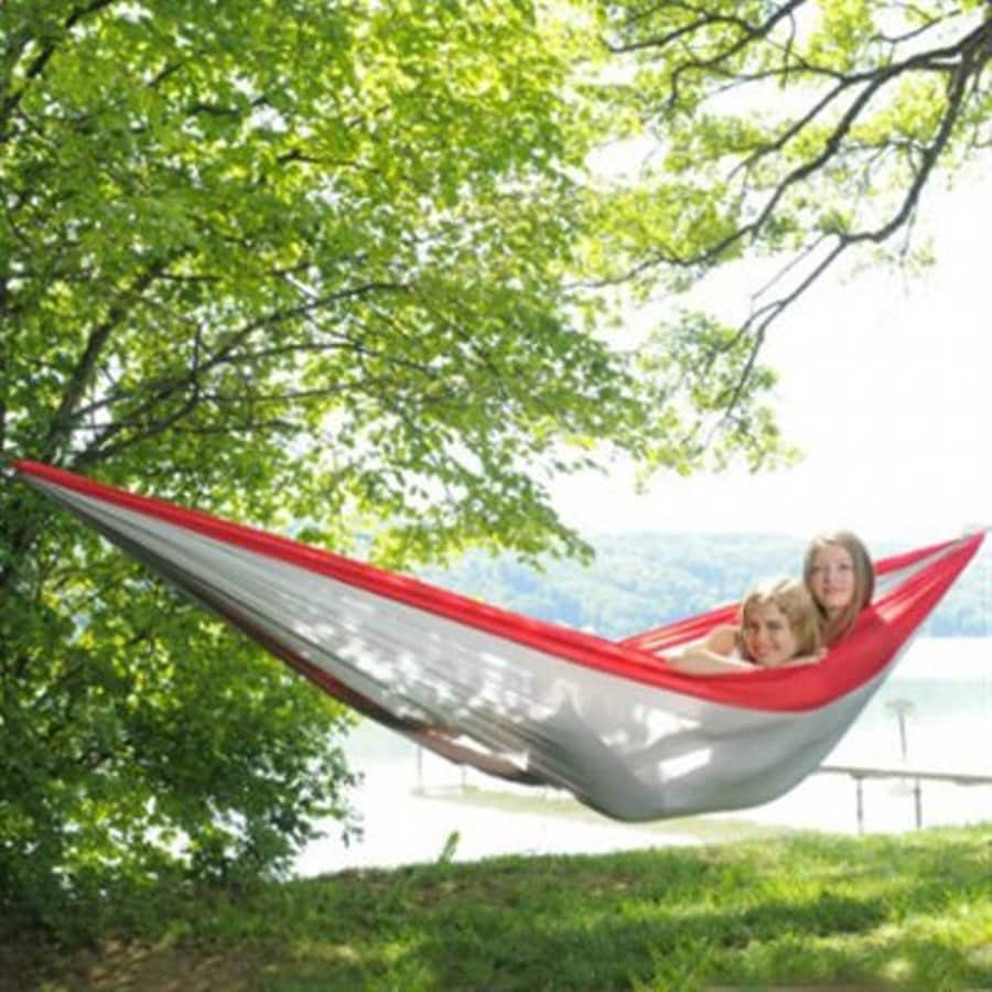 Byer of Maine Amazonas Traveller Red and Grey Fabric Hammock