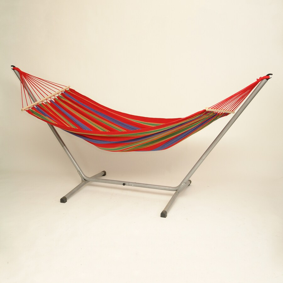 Byer of Maine Amazonas Aruba Cayenne Red Fabric Hammock with Stand