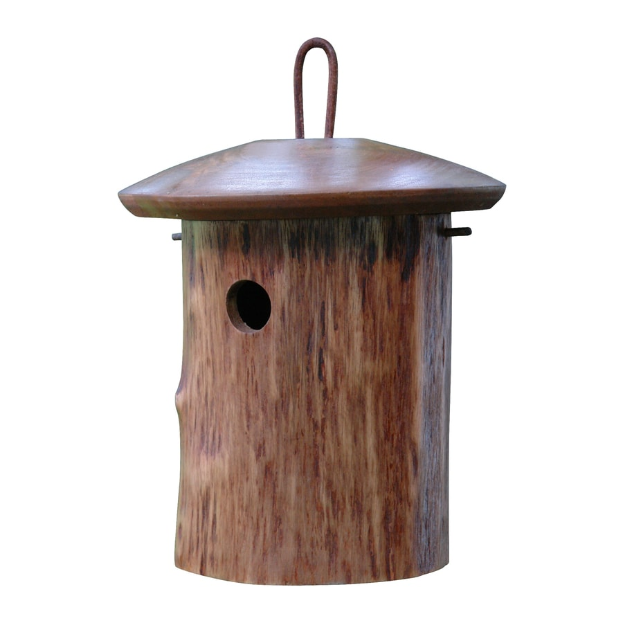 Byer of Maine 9-in W x 10-in H x 9-in D Dark Stain Bird House