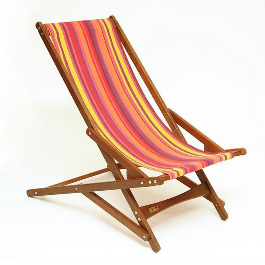 Shop Byer Of Maine Volcano Keruing Folding Beach Chair At