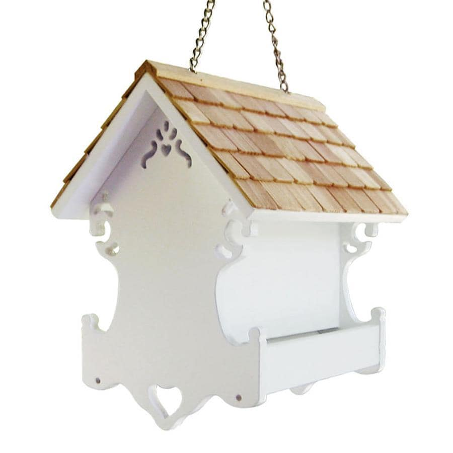 Home Bazaar Cottage Charmer Wood Platform Bird Feeder