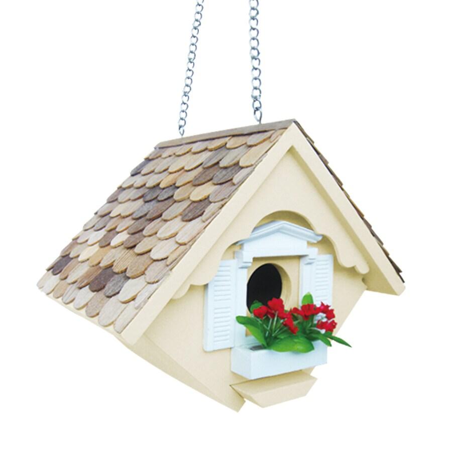 Home Bazaar 5.5-in W x 8-in H x 6.5-in D Yellow Bird House