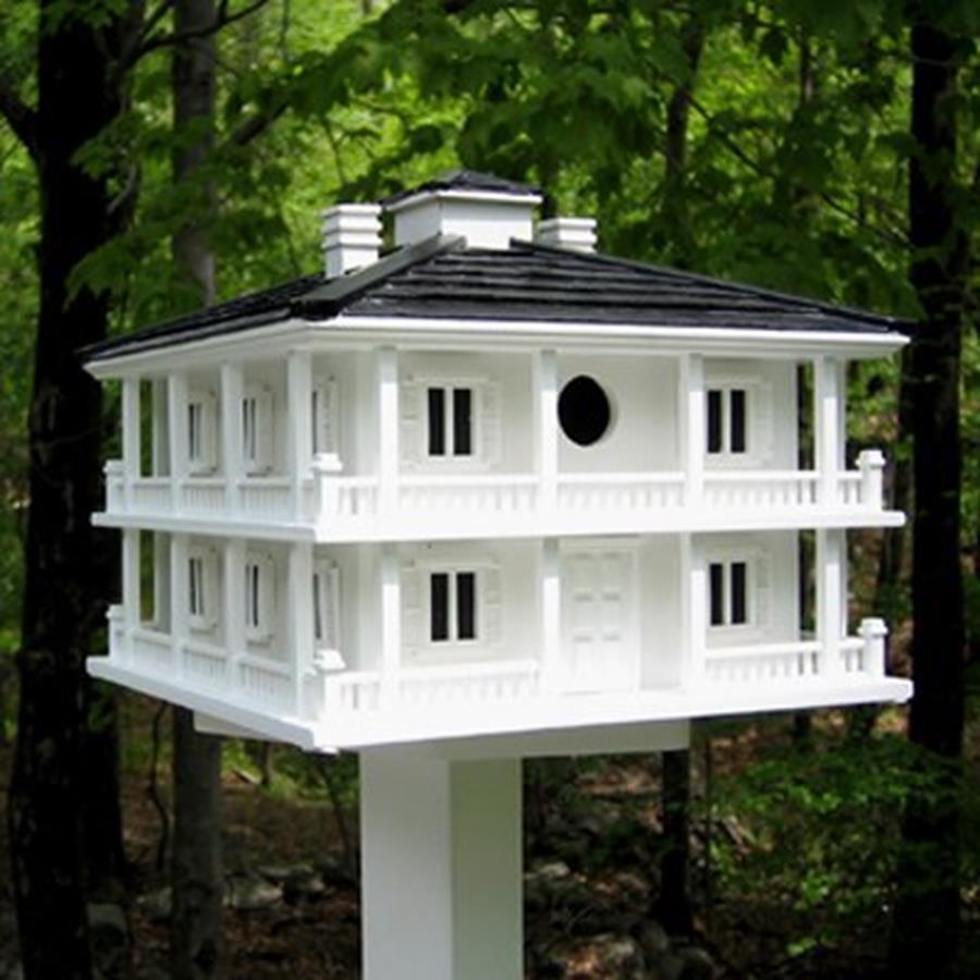 Home Bazaar 12-in W x 11-in H x 12-in D White Bird House