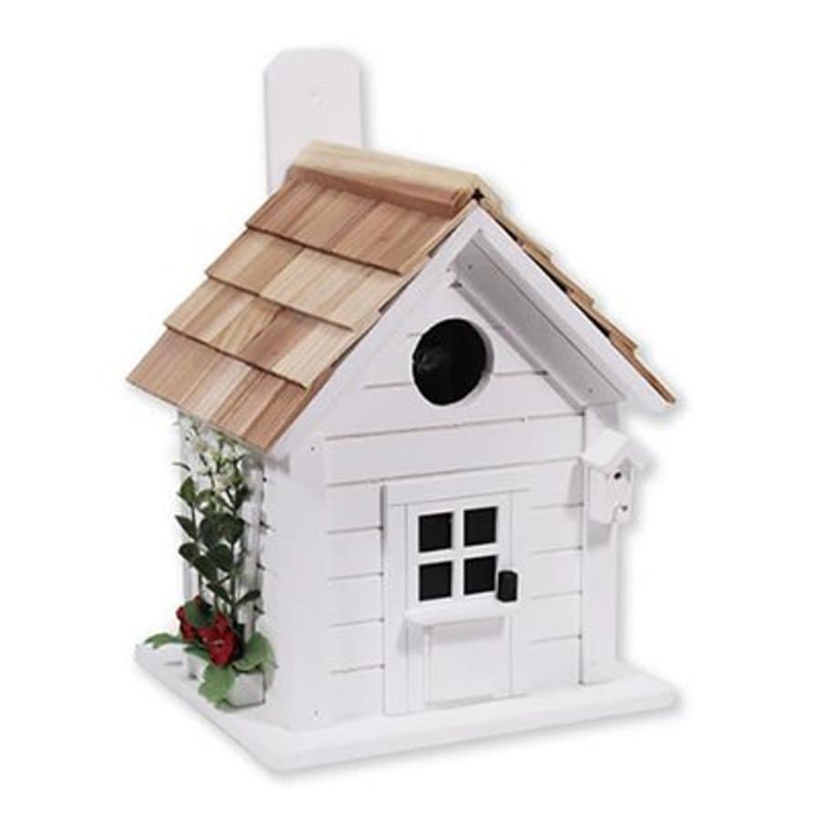 Home Bazaar 9-in W x 9-in H x 10-in D White Bird House