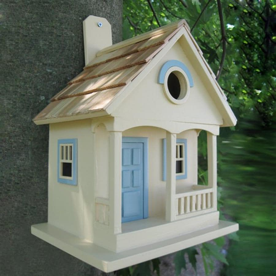Home Bazaar 6-in W x 10-in H x 8-in D Yellow Bird House