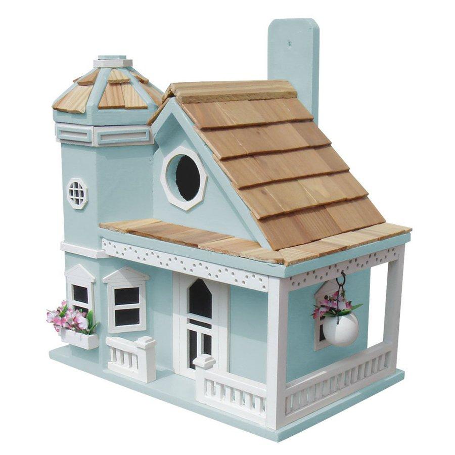 Home Bazaar 9-in W x 9-in H x 10-in D Blue Bird House