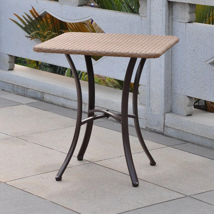International Caravan Barcelona 28-in W x 28-in L Square Aluminum Bistro Table