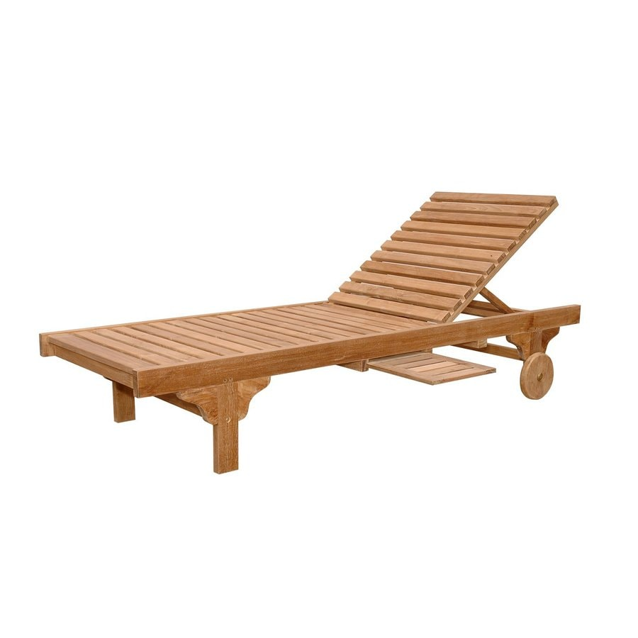 Shop anderson teak capri sun natural teak patio chaise for Patio furniture chaise lounge