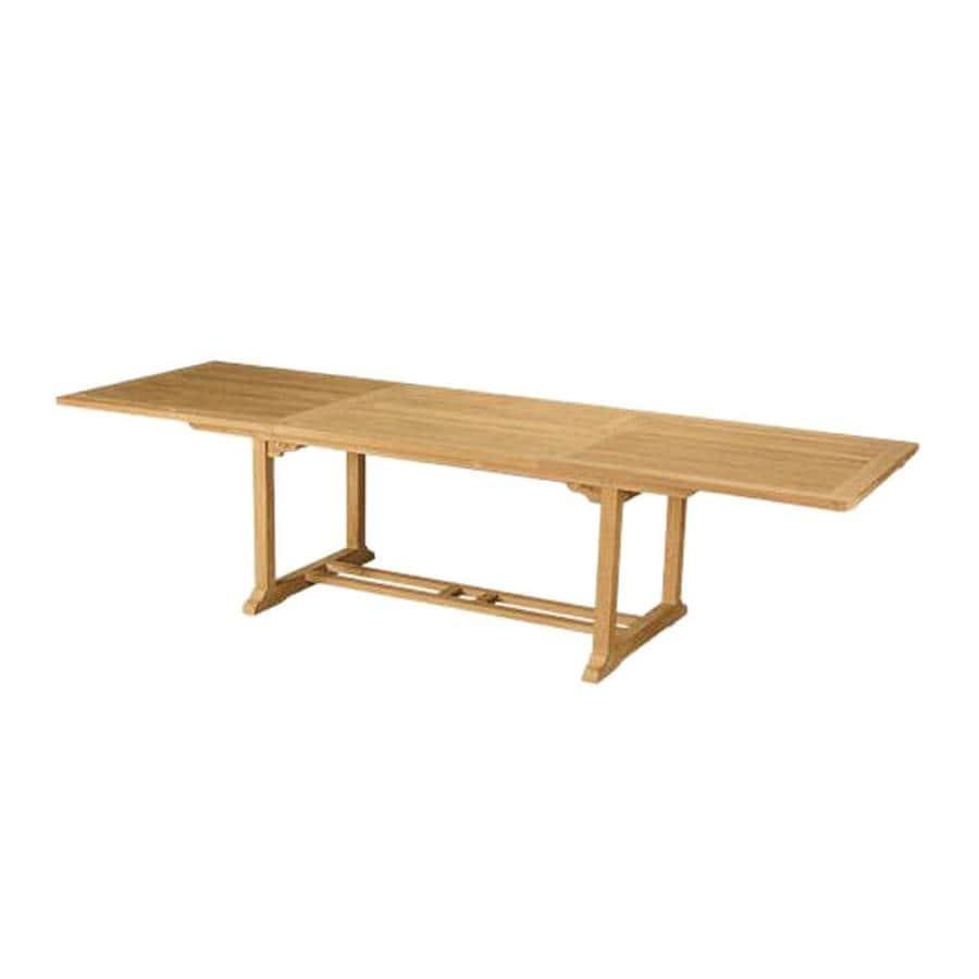 Anderson Teak Bahama 39-in W x 78-in L Rectangle Teak Dining Table