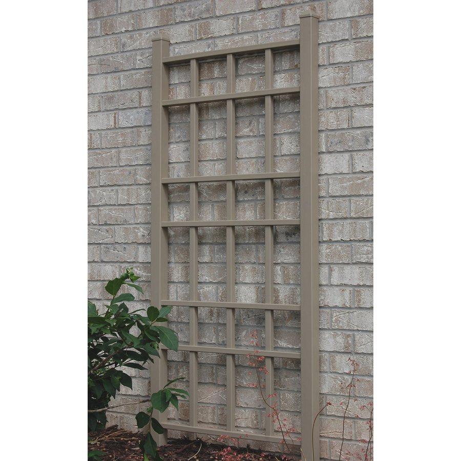Dura-Trel 30-in W x 66-in H Mocha Craftsman/Mission Garden Trellis