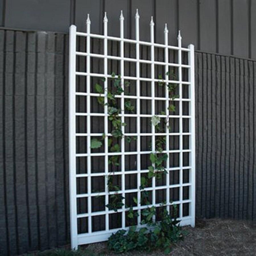 Dura-Trel 57-in W x 96-in H White Transitional Garden Trellis
