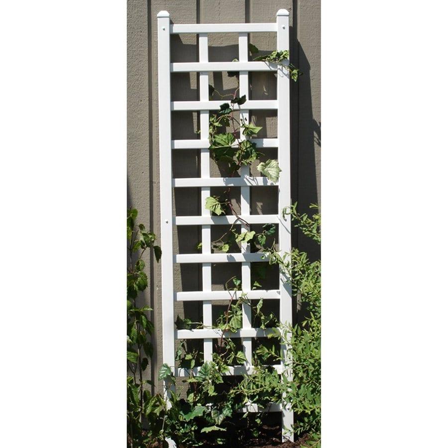 Dura-Trel 22-in W x 75-in H White Craftsman/Mission Garden Trellis