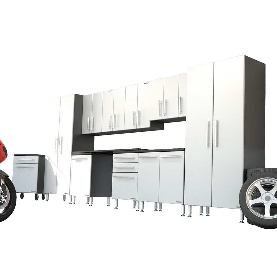 Ulti-Mate 204-in W x 82.8-in H Silver Garage Storage System