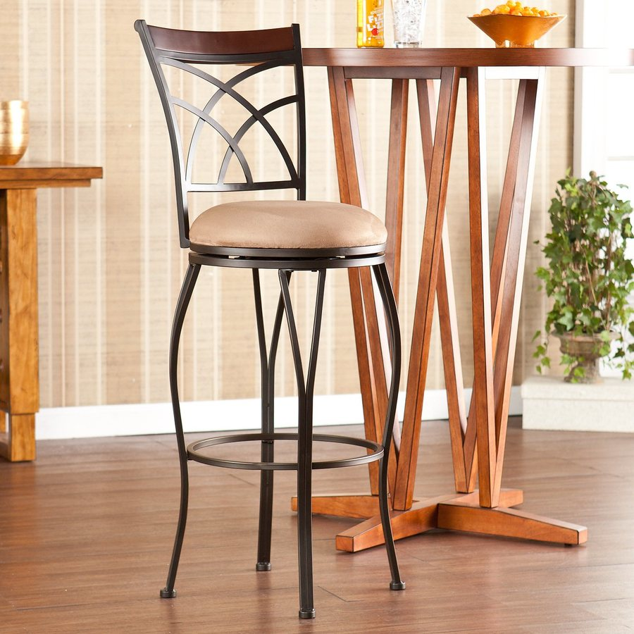 Boston Loft Furnishings Devaney Dark Champagne 30-in Bar Stool