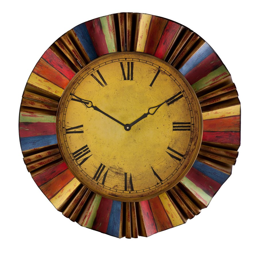 Boston Loft Furnishings Fiesta Analog Round Indoor Wall Standard Clock
