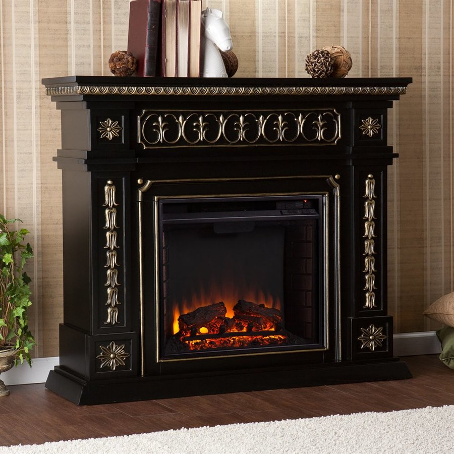 Shop boston loft furnishings 47 in w 4700 btu black wood Loft fireplace