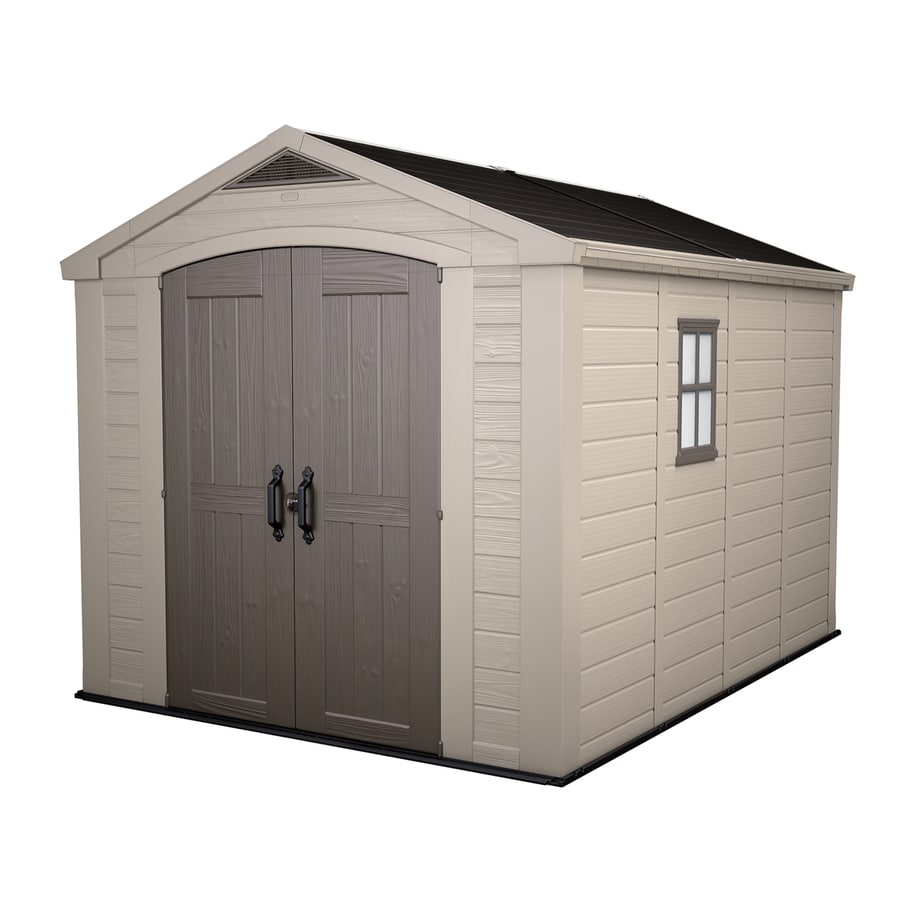 Keter Factor Gable Storage Shed (Common: 8-ft x 11-ft; Actual Interior Dimensions: 7.75-ft x 10.208-ft)