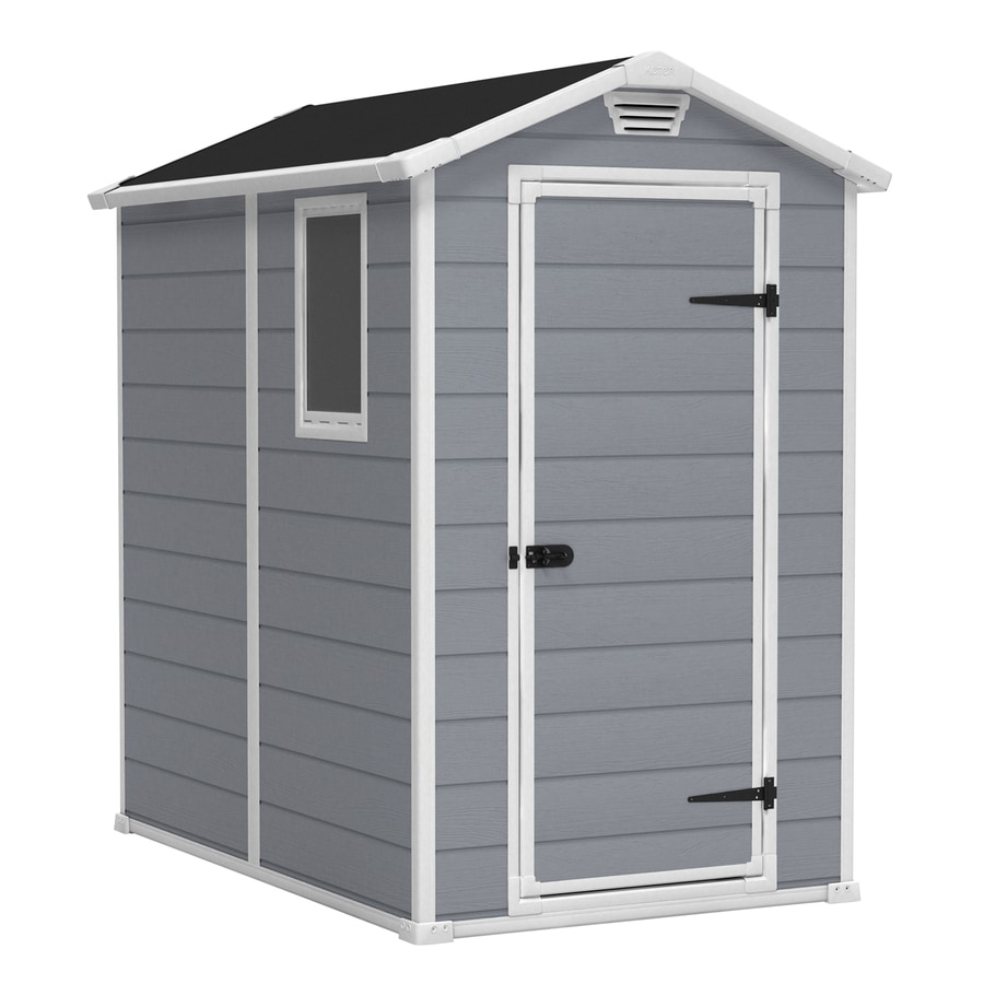 Shop keter manor gable storage shed common 4 ft x 6 ft - Abris de jardin pvc leroy merlin ...
