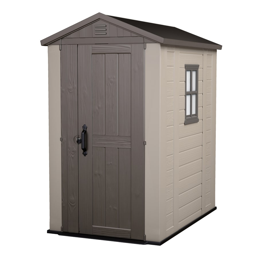 Shop Keter Factor Gable Storage Shed (Common: 4-ft x 6-ft; Actual Interior Dimensions: 3-ft 7.9 ...