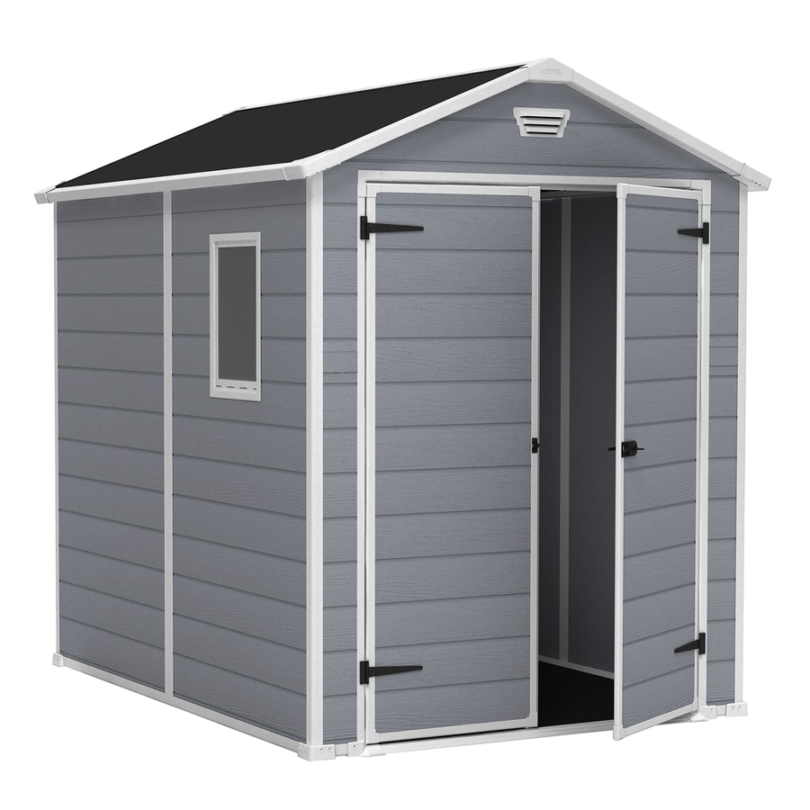 Manor Gable Storage Shed (Common: 6-ft x 8-ft; Actual Interior Dimensions: 5-ft 6.5-in x 7-ft 3.4-in) Product Photo