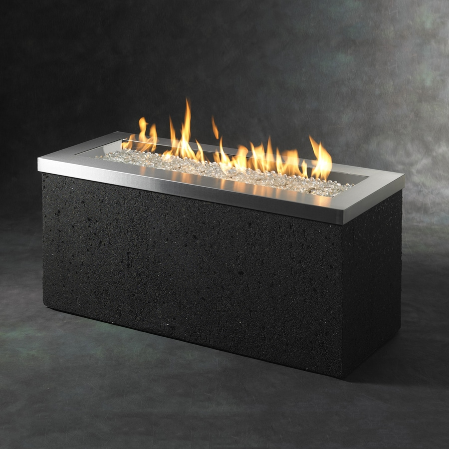 Outdoor Greatroom Company 48-in W 88,000-BTU Black/Stainless Steel Stainless Steel Liquid Propane Fire Table