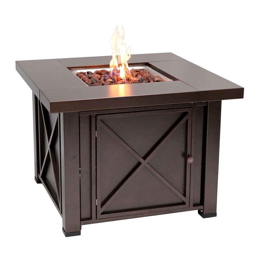 Fire Sense 38-in W 40000-Btu Bronze Portable Steel Liquid Propane Fire Table