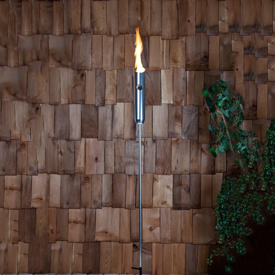 Fire Sense Firenze 77-in Polished Aluminum Metal Fire Torch