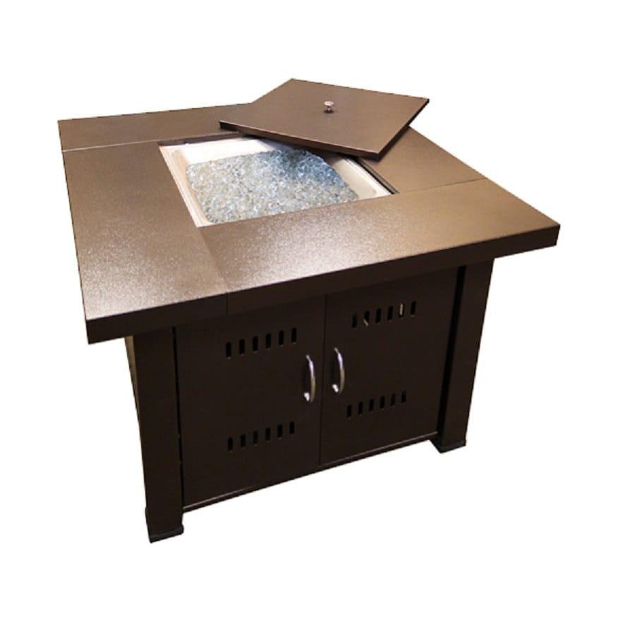 AZ  Patio 38-in W 35000-BTU Hammered Bronze Stainless Steel Liquid Propane Fire Table