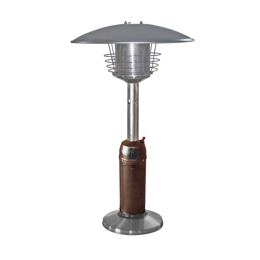 AZ  Patio 11000-BTU Stainless Steel/Hammered Bronze Stainless Steel Tabletop Liquid Propane Patio Heater