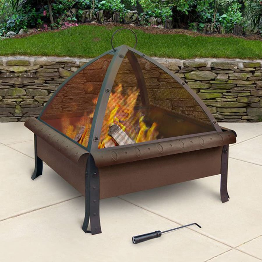 Landmann USA 27.6-in W Antique Bronze Steel Wood-Burning Fire Pit