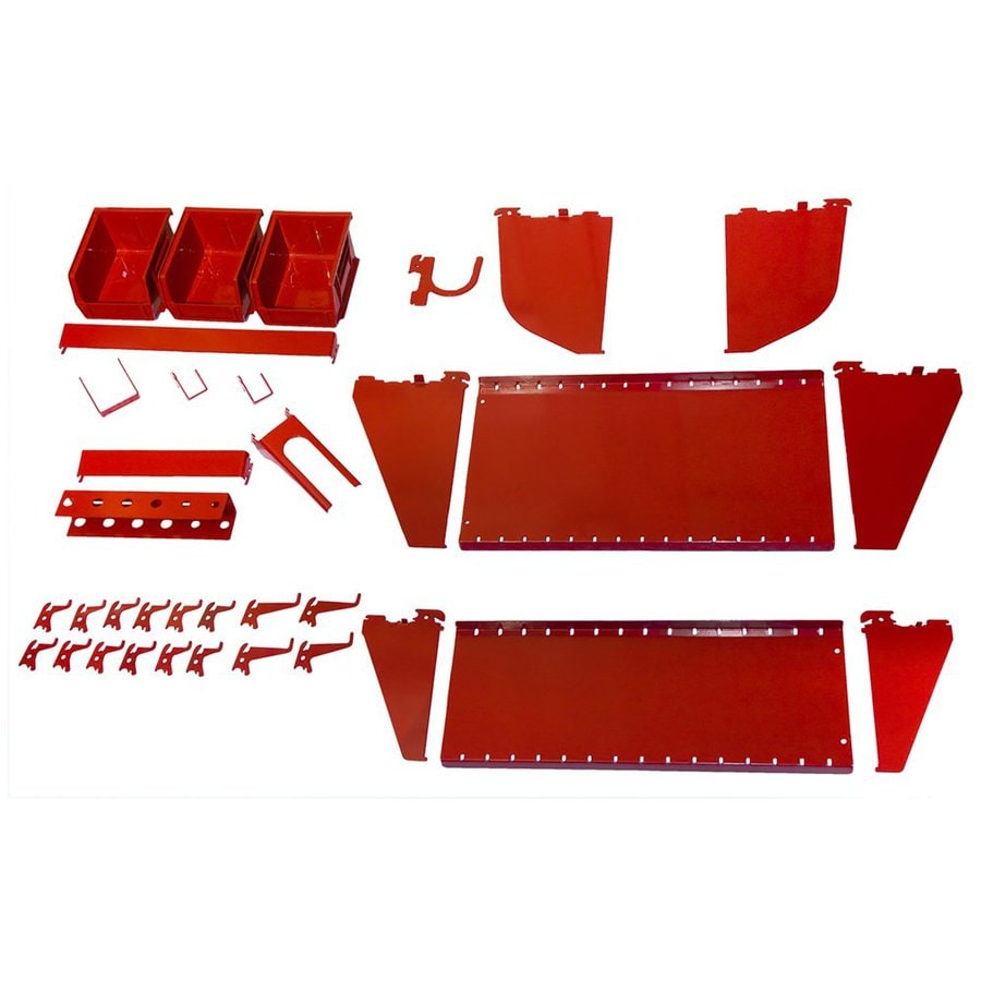 Wall Control 27-Piece Red Accessory Starter Kit