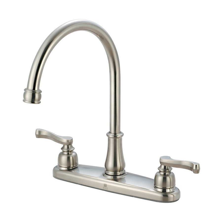 Brushed Nickel Kitchen Faucet : ... Brentwood Brushed Nickel 2-Handle High-Arc Kitchen Faucet at Lowes.com
