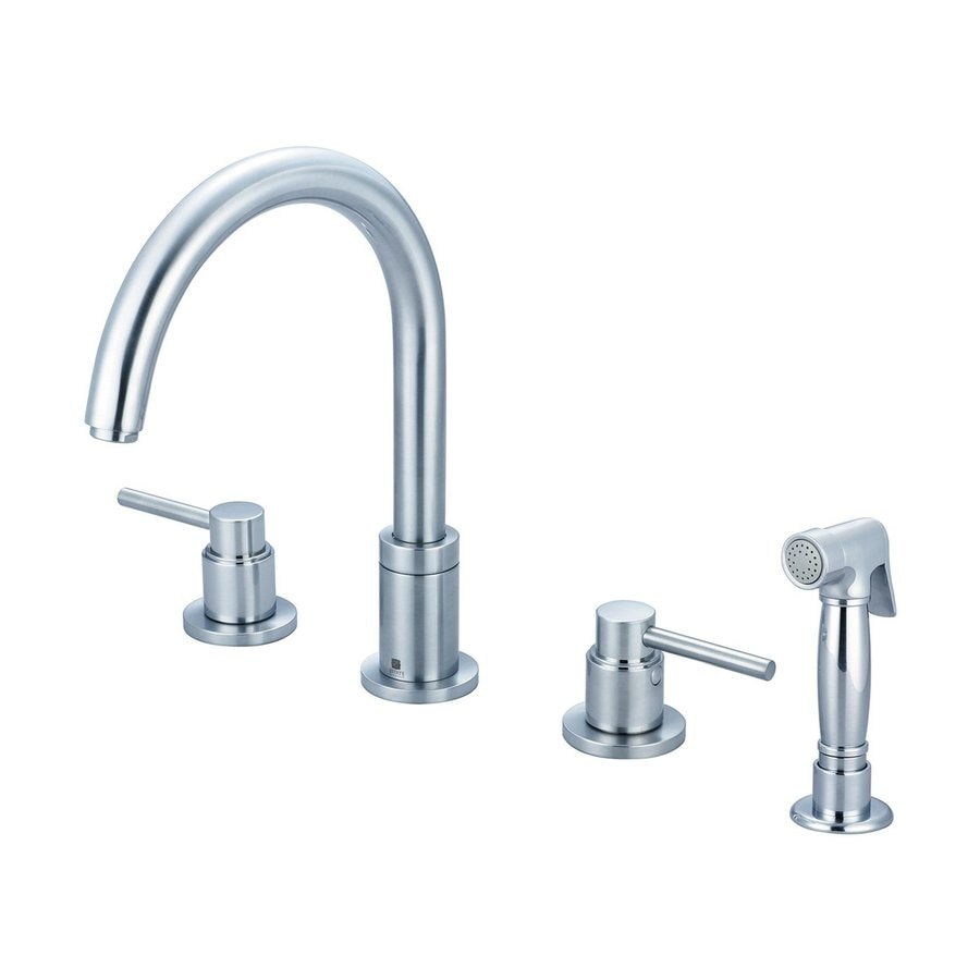 Pioneer Industries Motegi Stainless Steel 2-Handle High-Arc Kitchen Faucet with Side Spray