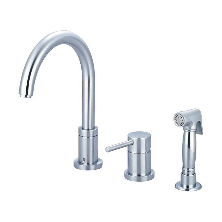 Pioneer Industries Motegi Stainless Steel 1-Handle High-Arc Kitchen Faucet with Side Spray