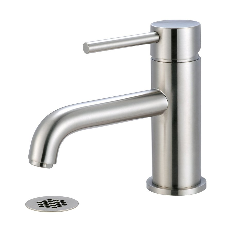 Shop pioneer industries motegi brushed nickel 1 handle - Single hole bathroom faucets brushed nickel ...