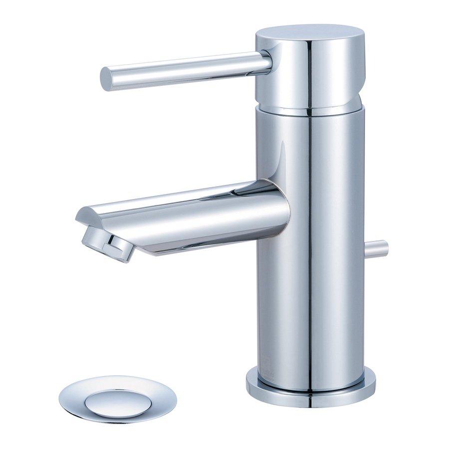 Pioneer Industries Motegi Polished Chrome 1-Handle Single Hole WaterSense Bathroom Faucet (Drain Included)